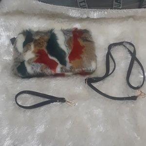 BN no tags Multi-Color Faux Fur Bag